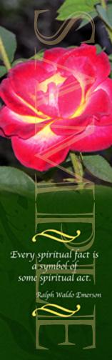 Rose Spirituality Bookmark