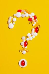 Pills in Question Mark Shape